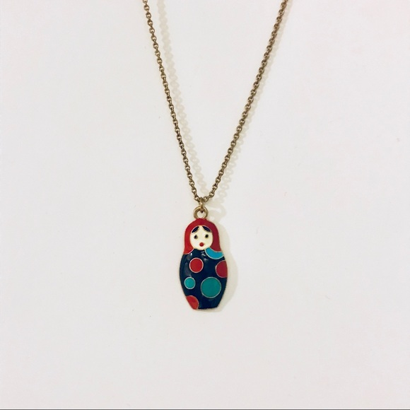 Forever 21 Jewelry - Russian nesting doll necklace